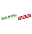 grunge best of 2020 stamps with rounded rectangle vector image vector image