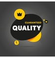 Guaranteed quality isolated banner vector image