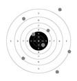 gun shooting paper targets vector image