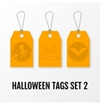 Halloween sale tags set isolated templates vector image vector image