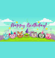 happy birthday greetings cute childish decorative vector image