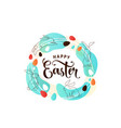 happy easter greeting in vector image