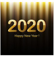 happy new year golden and black card vector image vector image