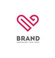 heart lines logo concept vector image
