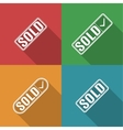 Icons sold vector image vector image