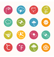 icons weather Circle Series vector image