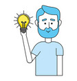 idea working cartoon vector image vector image