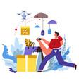 internet shop delivery online order web store vector image