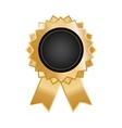 Isolated ribbon award vector image vector image