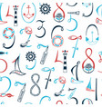 lettering numbers 1 2 3 4 5 6 7 8 9 0 vector image vector image
