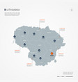 lithuania infographic map vector image vector image
