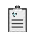 medical order document icon vector image vector image