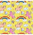 Miracle unicorn wizard seamless background vector image vector image