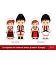moldova romania men and women in national dress vector image vector image