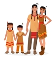 Native American Indian traditional family vector image