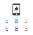 of air symbol on phone icon vector image vector image