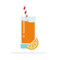 orange juice flat material design isolated object vector image