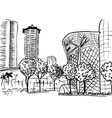 orchard road in singapore vector image vector image