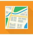 Paper Map Flat Icon vector image