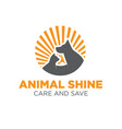 pet care logo designs vector image