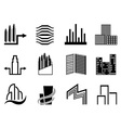 Real estate and city buildings symbol vector image