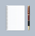 realistic 3d detailed notebook lined spiral vector image