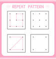 repeat pattern kindergarten educational game for vector image vector image