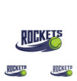 rocket tennis logo for team and cup vector image