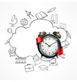 School time alarm vector image vector image