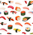 seamless pattern japanese food vector image vector image