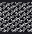 seamless pattern with black and white geometry vector image
