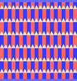 seamless pattern with pencils red and blue vector image