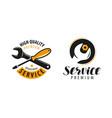 service logo repair maintenance work label or vector image vector image