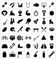 set icons sports and fitness equipment vector image