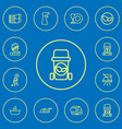 set of 12 editable cleanup outline icons includes vector image vector image