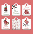 set of christmas tags in vector image vector image