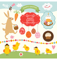 Set of easter elements vector | Price: 3 Credits (USD $3)