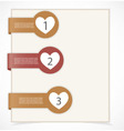 Set of tag labels vector image vector image