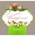 Spring vintage elegant card with flowers vector image