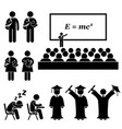 student lecturer teacher school college vector image