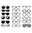 sunglasses set summer eyewear sun protection vector image vector image