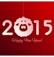 Symbol of New Years lamb on red vector image vector image