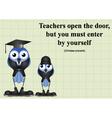 teachers open door vector image vector image