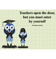 Teachers open the door vector image vector image