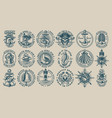the biggest bundle vintage nautical vector image