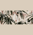tropical plant seamless pattern palm leaves vector image vector image