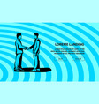 two silhouette businessman handshaking vector image