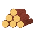 wood trunk isolated icon design vector image vector image