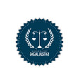world day social justice design vector image vector image
