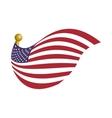 United states usa flag vector image